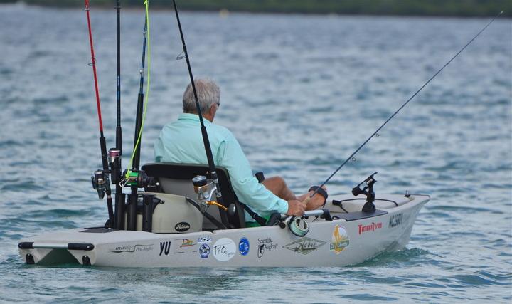 A first fishing kayak for NEW CALEDONIA FISHING SAFARIS